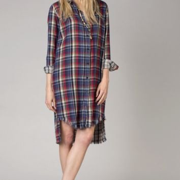 Open Road Plaid Shirt Dress