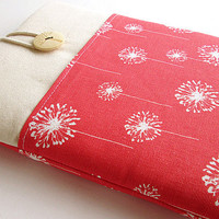 Macbook 13 inch Case, Macbook case, Sleeve Macbook 13 Air/Pro Case Padded 13in-Coral dandelion.