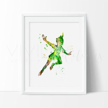 Day-First™ Peter Pan Watercolor Art Print