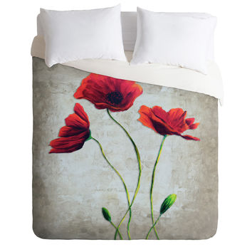 Madart Inc. Vibrant Poppies I Duvet Cover