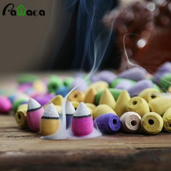50pcs Backflow Incense Lavender Lily Sandalwood Mixed Fragrance Incense this is the cones for the back flow holders