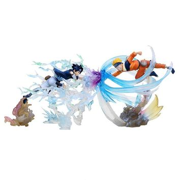 Naruto Sasauke ninja Uzumaki VS Sasuke  Rasengan Japanese Anime Figures Action & Toy Figuarts Zero Model Collection Girls Kids 18-22cm AT_81_8