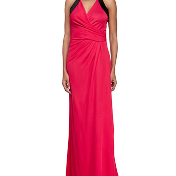 Two-Tone Combo Gown, Ruby/Black, Size: