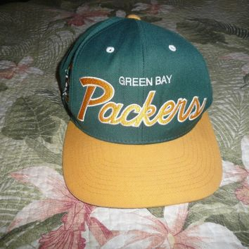 MITCHELL & NESS GREEN BAY PACKERS FOOTBALL BASEBALL CAP HAT NFL SNAPBACK VINTAGE