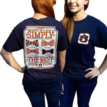Auburn Tigers War Eagle Simply The Best Prep Bows Bright T-Shirt