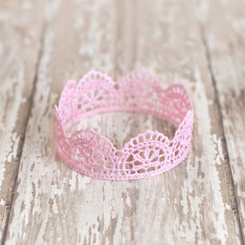 Lace Newborn Crown, Newborn Crown, Photography Prop, Infant Crown, Newborn Princess Crown, Princess Crown, Prop, Newborn Prop