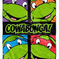 "Teenage Mutant Ninja Turtles Silk Touch Throw Blanket 40"" X 50"" by Nickelodeon"
