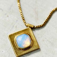 Underground Arts Moonstone Necklace- Gold One
