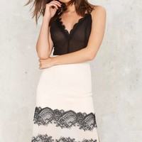 Nasty Gal Emmeline Embroidered Lace Midi Skirt