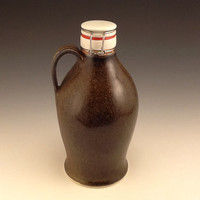 Soda Fired Growler with tea dust Tenmoku glaze