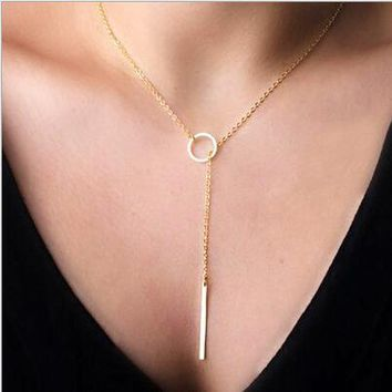 Fashion Punk Europe Simple Temperament Metal Short Necklace Female Clavicle Chain For Women Girl