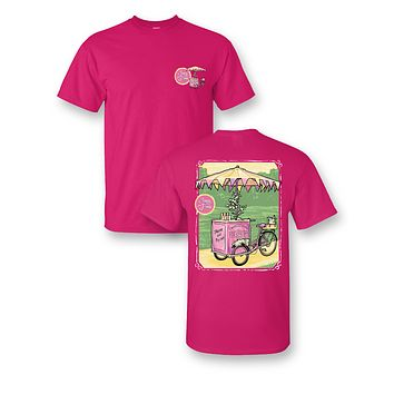 Sassy Frass Ice Cream Trike Cart Comfort Color Bright Girlie T Shirt