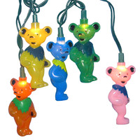 Kurt Adler UL 10-Light Grateful Dead Bears Light Set