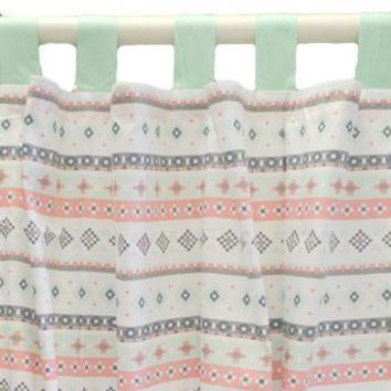 Curtain Panels | Trinity's Tribal Pink Cheyenne Aztec Stripe