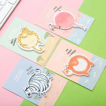 The Animal Fat Boll Memo Pad Sticky Notes Escolar Papelaria School Supply Bookmark Post it Label