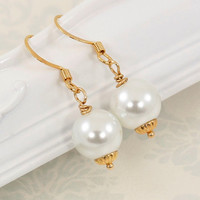 Pearl Wedding Jewelry, Pearl Drop Earrings, Vera Collection