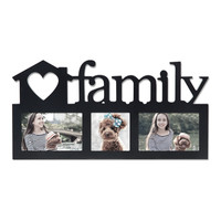 "Decorative Black Wood ""Family"" Wall Hanging Picture Photo Frame"