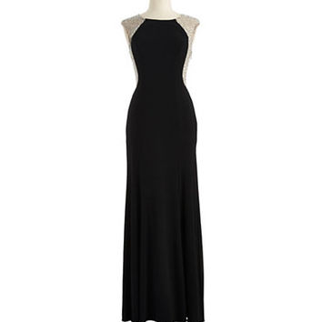 Xscape Gemstone Embellished Gown