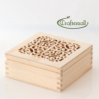 Unfinished wood box for decoupage, painting or pyrography