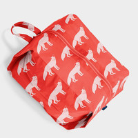 Large 3D Zip Pouch Red Fox
