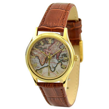 Ladies Vintage Map Watch (Eastern Hemisphere)