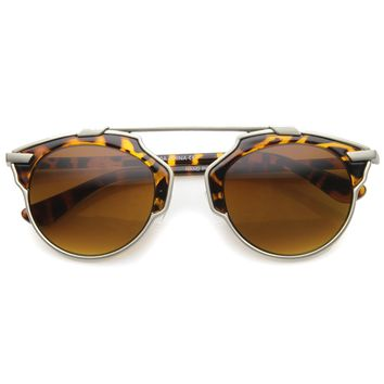 New Women's Fashion Horned Rim Outline Sunglasses 9955