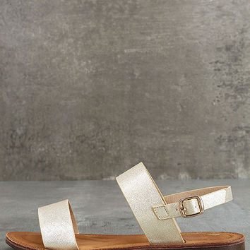 Kapalua Gold Flat Sandals