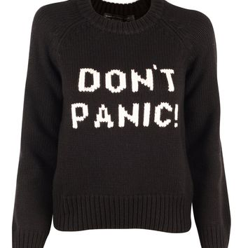Black Don't Panic Sweater