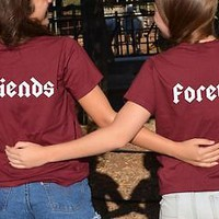 Friends Forever 2 matching Best Friends Shirts set Bestfriends gift BFF tshirts