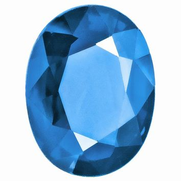 Loose Blue Topaz Gemstone  18x13mm Oval AAA Quality