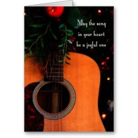 Joyful Song Acoustic Guitar Christmas Card