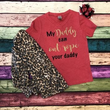 DADDY Ropes & Gold Glitter T-shirt & Onesuit