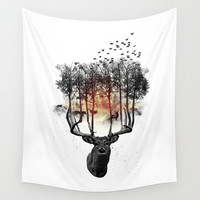 Ashes to ashes. Wall Tapestry by John Medbury (LAZY J Studios)
