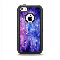 The Purple and Blue Scattered Stars Apple iPhone 5c Otterbox Defender Case Skin Set