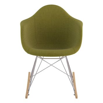 Mid Century Rocker Chair Avocado Green