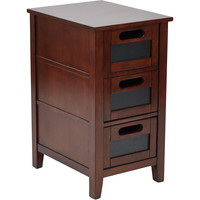 OSP Avery Chalkboard Chair Side Table, Saddle Finish