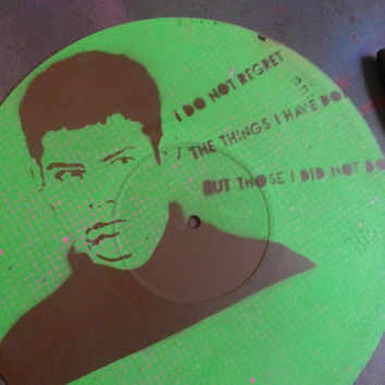 Empire Records Lucas vinyl record wall art (one of a kind) spray paint & stencil painting