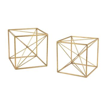 Angular Study Décor Gold