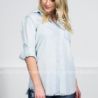 Dear John Pale Denim Top