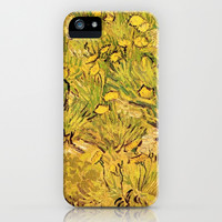 A field of Yellow Flowers by Vincent van Gogh. Vintage floral oil painting. iPhone & iPod Case by NatureMatters