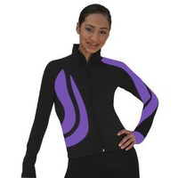 ChloeNoel Girls Adult Purple Black Spiral Ice Skating Sports Jacket 4-12 $59.99 - $74.99