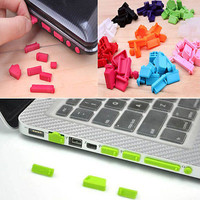 Protective Ports Cover Set Silicone Anti-Dust Plug Stopper for Laptop Notebook