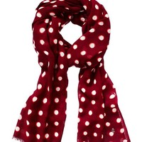 Double Dot Print Oblong Scarf