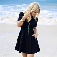 Scuba Skater Little Black Dress