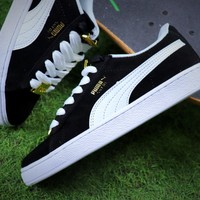 Puma Suede Classic BBOY Fabulous 50th Black White Shoes - Sale