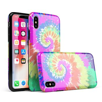 Spiral Tie Dye V1 - iPhone X Swappable Hybrid Case