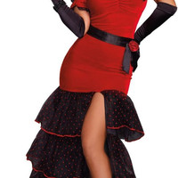 flamenco adult costume - large