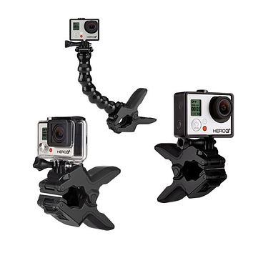 Jaws Flex Clamp Gooseneck for GoPro HD Hero Hero2 Hero3 3+ Hero4 Black Silver
