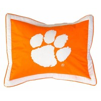 College Covers Clemson Tigers Printed Pillow Sham (Clm Team)