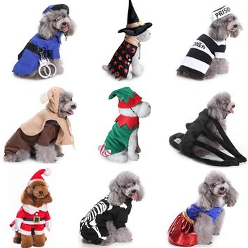 Winter Dog Christmas Costumes for Dog Clothes for Dogs Chihuahua Winter Dog Coat  Pet Clothing for Small Doggy Clothes 40 A1